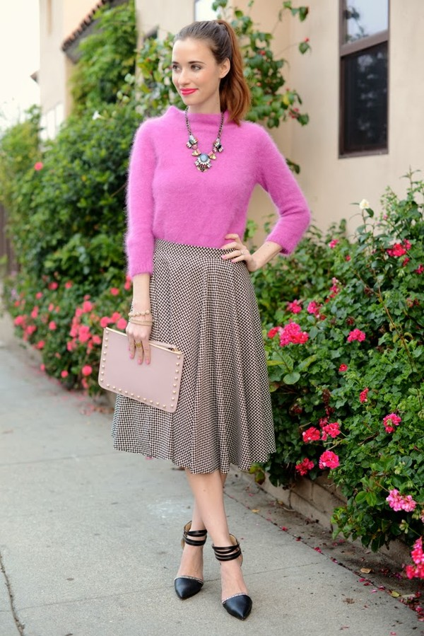 m loves m sweater skirt shoes jewels bag