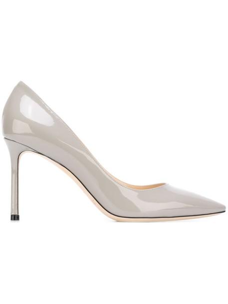 Jimmy Choo women pumps leather grey shoes