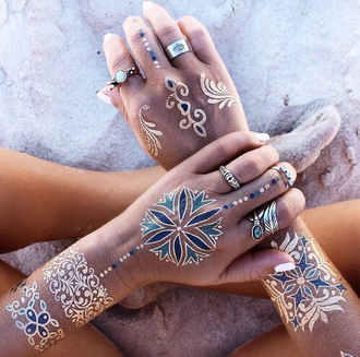 jewels fake tattoos tattoo temporary pretty