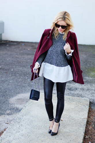 kim tuttle the knotted chain - a style blog by kim tuttle blogger sweater pants jacket shoes bag