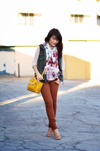 daily disguise scarf jacket shirt bag pants shoes