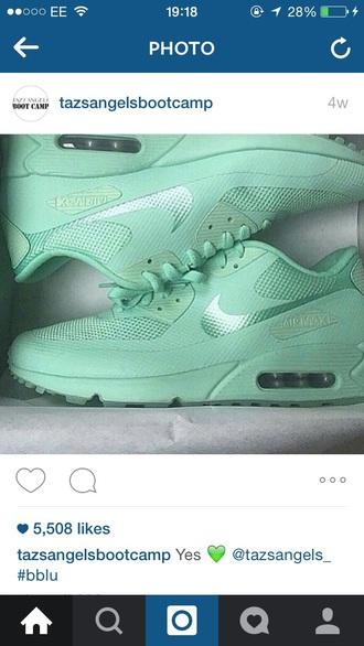 shoes mint mint green shoes nike trainers mint green trainers trainers