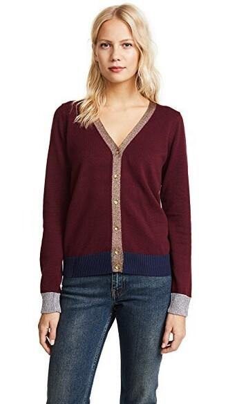 cardigan metallic sweater