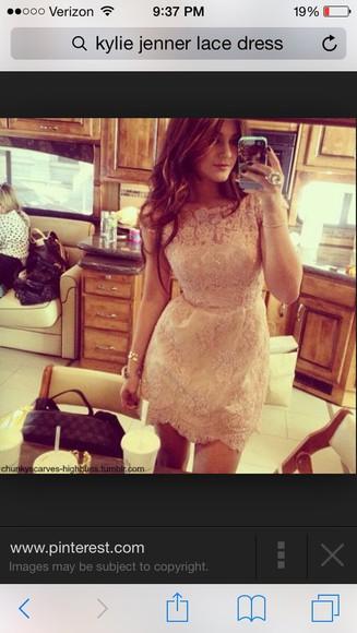 dress kylie jenner lace dress lace prom dress