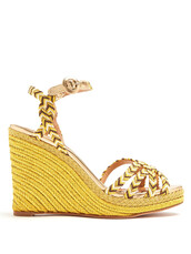 braided,100,sandals,wedge sandals,gold,shoes