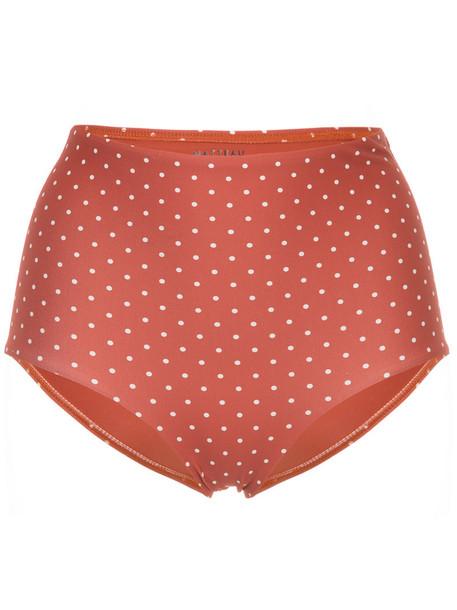 MATTEAU bikini high waisted bikini bikini bottoms high waisted high women spandex yellow orange swimwear