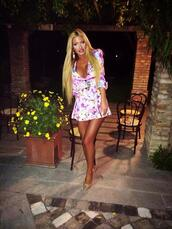 dress,pink,purple,sexy,white,cute,girly,fashion,style,summer,spring outfits,spring,trendy,floral,flowers,v neck,deep plunge neckline,deep plunge,halter neck,skirt,top,blouse,shirt,yellow,blue,black,mini skirt,short,evening outfits,evening dress,cute outfits,outfit,two-piece,tumblr,instagram,blogger,day dress,clubwear,bar,music,lyrics,word,quote on it,funny,cool,ocean,beach,celebrity style,shoes,heels,high heels,jewelry,jewls,blonde hair,tan