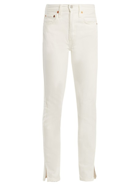 RE/DONE ORIGINALS jeans high slit white