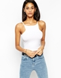 Asos crop top with cut away detail at asos.com