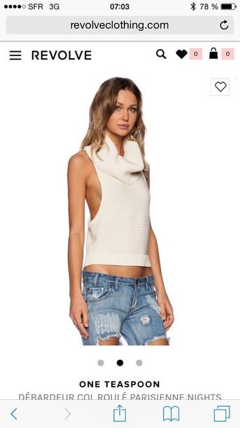 sweater one teaspoon sleeveless