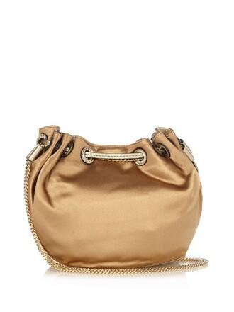 mini love bag bucket bag beige