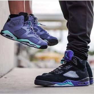 shoes sneakers fashion style jordans purple blue blue shoes black shoes black sneakers couple