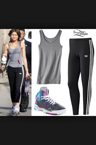 pants zendaya adidas tights