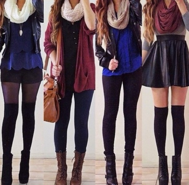67890d8e47f dress scarf cardigan boots leggings skirt black blue red tights heels purse  blouse coat jacket jeans