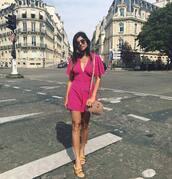 shoes,pink romper,gucci bag,tumblr,slide shoes,metallic,gold shoes,romper,bag,gucci