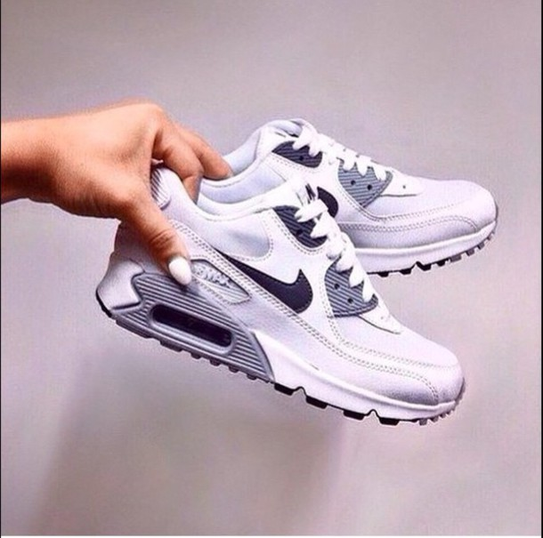 shoes nike air max white black grey