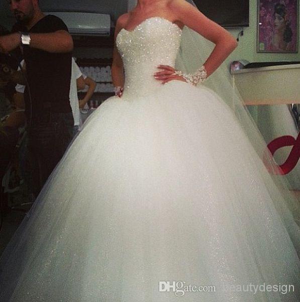 2014 Romantic White Tulles Ball Gown Wedding Dresses Ball Gown Wedding Dresses | Buy Wholesale On Line Direct from China