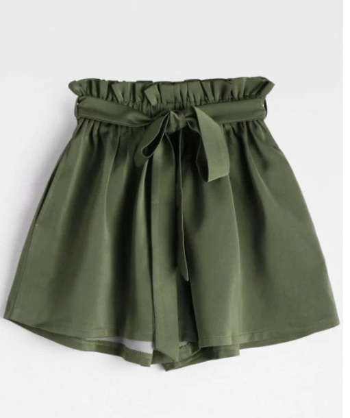 shorts girly green olive green high waisted