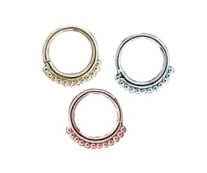 Body vision bvla 14k gold latchmi nose nostril septum ring 16g [36