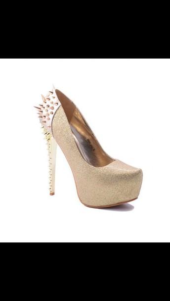 shoes pumps golden