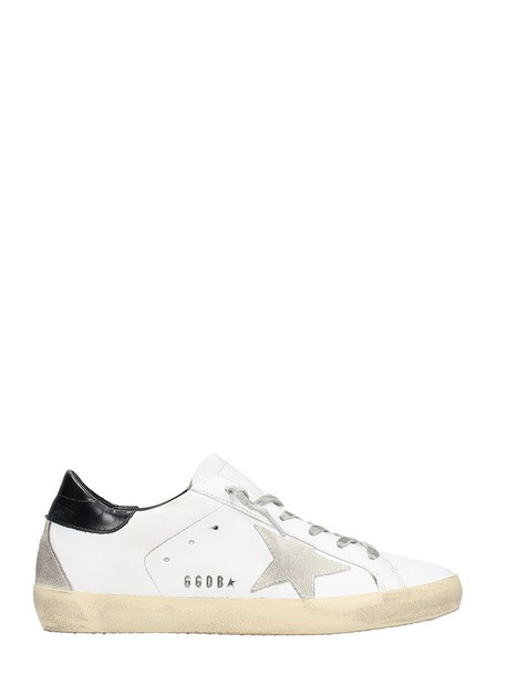 Golden goose sneakers leather white shoes