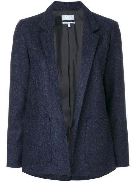 A.P.C. jacket women blue wool