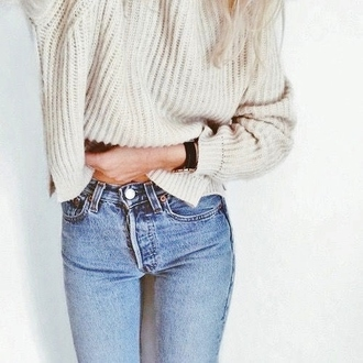 sweater knit knit weater brown cozy knitwear oversized sweater jeans
