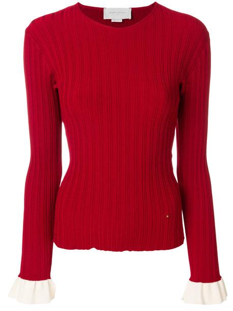 Esteban Cortazar sweater women cotton red