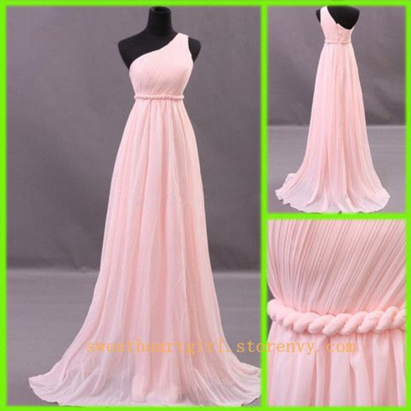chiffon long one shoulder ribbon dress chiffon dress ruffle bridesmaid bridesmaid prom dress prom dress homecoming dress homecoming dress party dress wedding party dresses bridesmaid