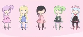 sweater pastel goth pastel goth sweater caoons cartoon hair dye outfit pastel goth fashion