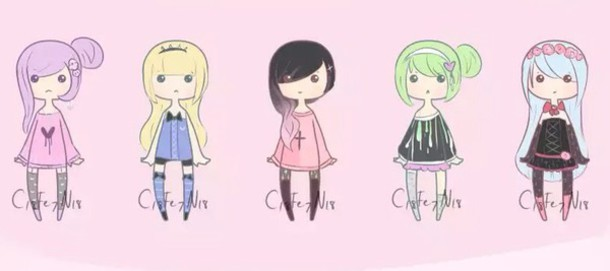 Sweater Pastel Goth Pastel Goth Sweater Caoons Cartoon