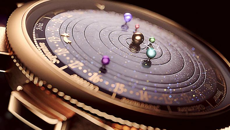 Midnight planétarium timepiece
