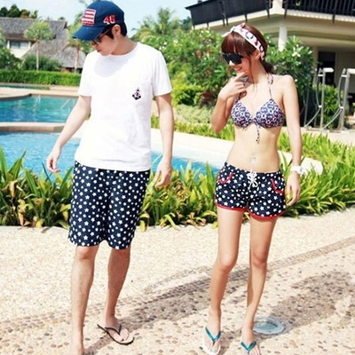littledaisy | Matching Couple Swimsuit Stars Print Bikini Top Shorts  | Online Store Powered by Storenvy