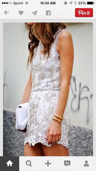 white dress beaded lace dress prom dress bridesmaid homecoming dress evening dress pll ice ball