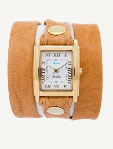 Camel Wash Wrap Watch | La Mer Collections' Unique Timepieces