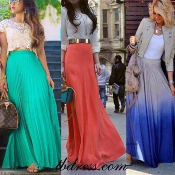 Blue Skirt Long