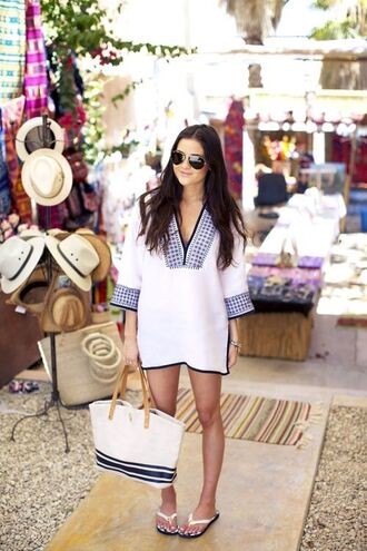 dress beach dress beach dresse blue cover up beachwear outfit blue dress white dress blue and white dress long hair sunglasses shoes embroidered dress embroidered resort beach shoes boho prepy classy wavy hair cute dress prepy style classy dress annemerel blogger