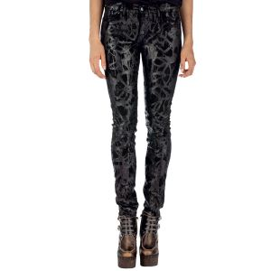 Proenza schouler hand painted low waist jean womens denim
