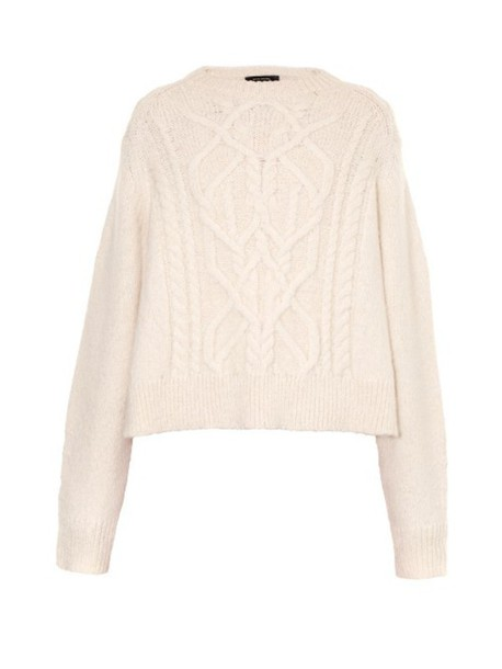ISABEL MARANT Gabao Aran-knit sweater in ivory
