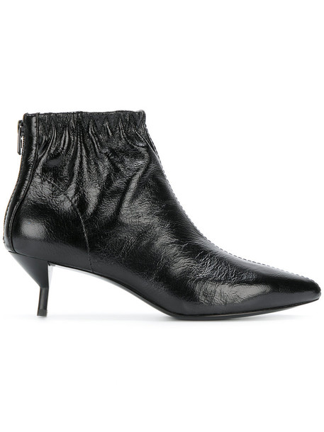 3.1 Phillip Lim heel women ankle boots leather black shoes