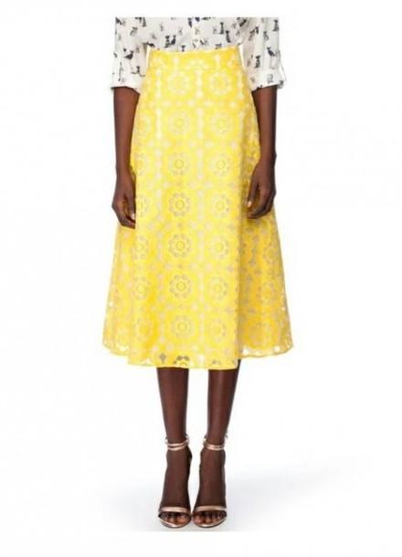 skirt yellow midi skirt