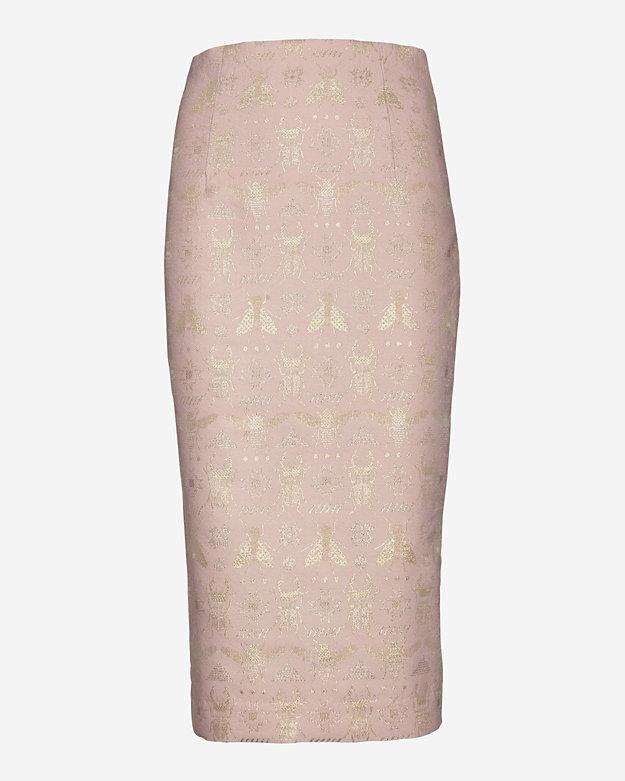 Emma Cook Beetle Bug Jacquard Pencil Skirt | Shop IntermixOnline.com