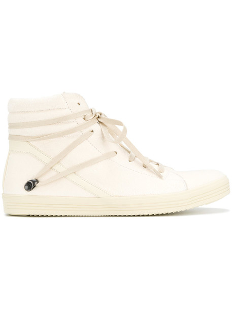 Rick Owens women sneakers leather nude suede shoes
