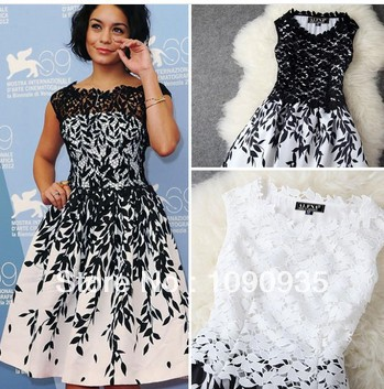 sleeveless women Embroidery lace dress cheap plus size women dresses new fashion 2014 summer runway dress LQ9083-in Dresses from Apparel & Accessories on Aliexpress.com