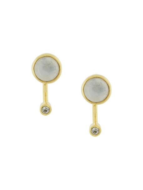 Pamela Love women earrings gold silver grey metallic jewels