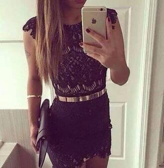 dress lace dress black mini dress