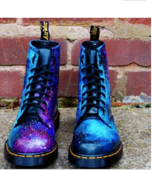 galaxy print doc martens space DrMartens