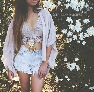 top cardigan shorts jewels