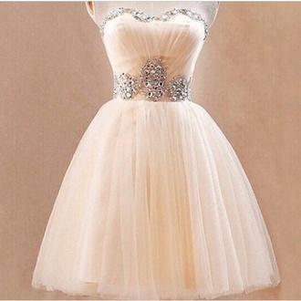 jewels tulle skirt short