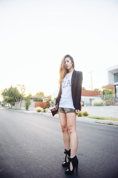 neon blush t-shirt jacket shorts shoes jewels
